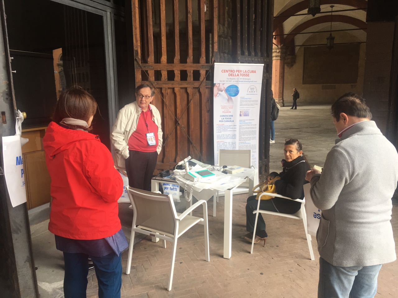 First visitors at the spirometry day